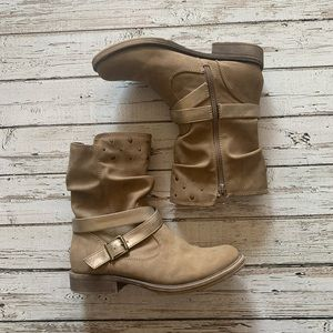 4  jelly pop JellyPop Playful Girl Brown  Ankle High Heel Boots $60 size 12 3